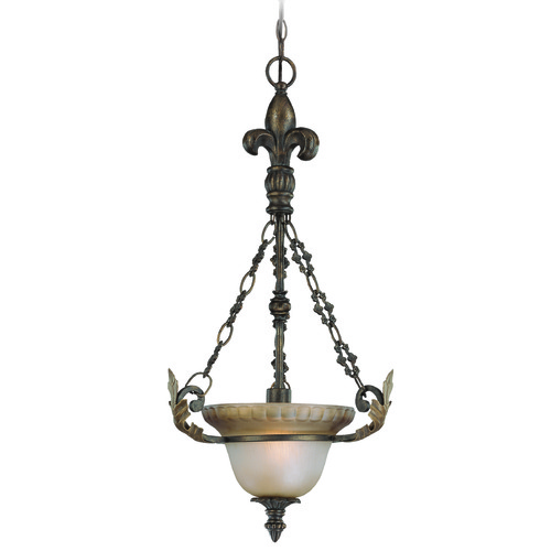 Jeremiah Lighting Jeremiah Devereaux Burleson Bronze Pendant Light with Bowl / Dome Shade 25721-BBZ