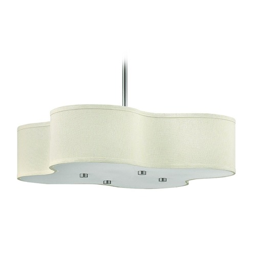 Hinkley Lighting Modern Drum Island Lights in Brushed Nickel Finish 3805BN