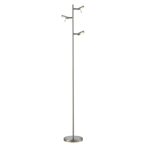 Elk Lighting Modern LED Floor Lamp in Brushed Nickel/brushed Aluminum Finish 54015/3