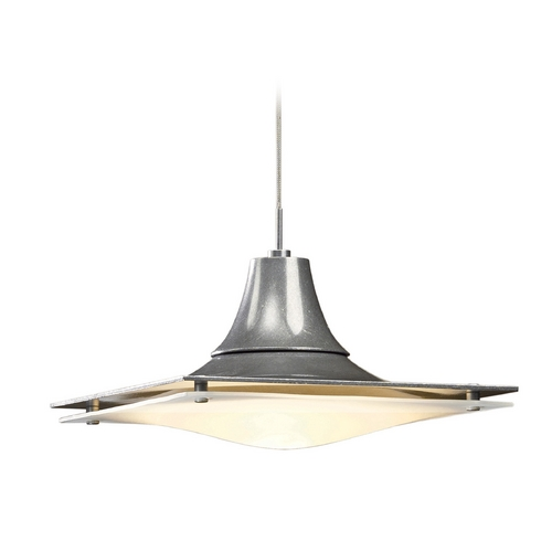 Hubbardton Forge Lighting Hubbardton Forge Lighting Hood Vintage Platinum Mini-Pendant Light 16112082-NO
