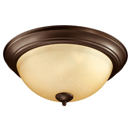 Quorum Lighting Quorum Lighting Oiled Bronze Flushmount Light 3073-15-86