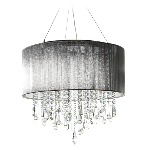 Avenue Lighting Avenue Lighting Beverly Drive Chrome Pendant Light with Drum Shade HF1502-SLV