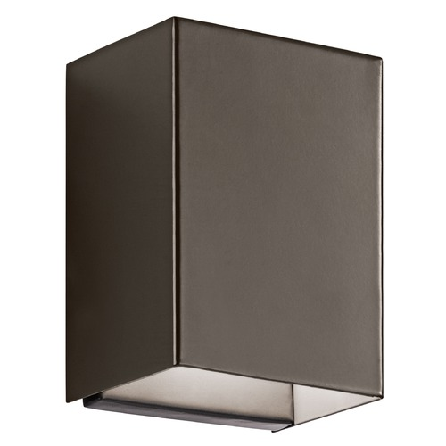 Kichler Lighting Kichler Lighting Walden Architectural Bronze LED Outdoor Wall Light 49550AZLED