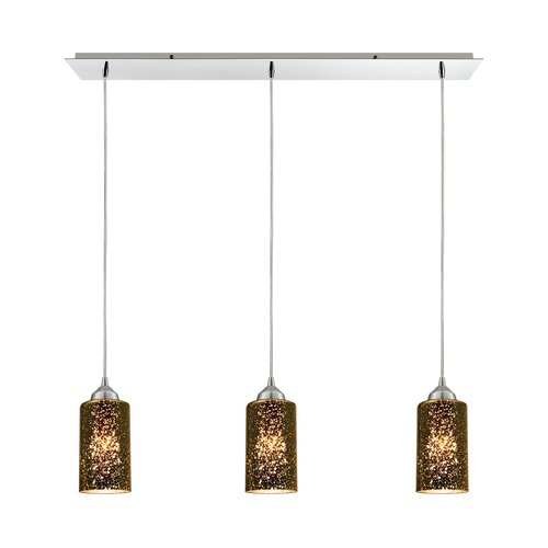 Elk Lighting Elk Lighting Illusions Polished Chrome Multi-Light Pendant with Cylindrical Shade 10505/3LP