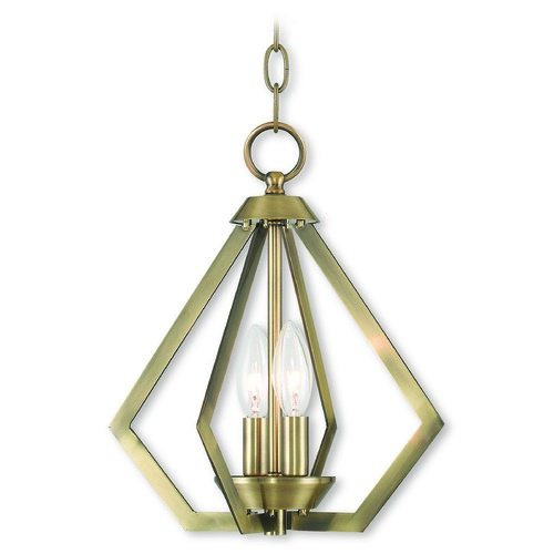 Livex Lighting Livex Lighting Prism Antique Brass Mini-Chandelier 40922-01