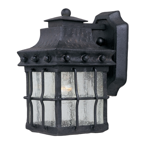 Maxim Lighting Outdoor Wall Light with Clear Glass in Country Forge Finish 30081CDCF