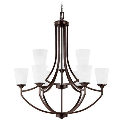 Sea Gull Lighting Sea Gull Lighting Hanford Burnt Sienna LED Chandelier 3124509EN3-710