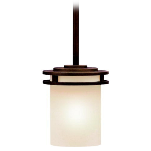 Kichler Lighting Kichler Transitional Mini-Pendant Light with Light Umber Etched Glass 3475OZ
