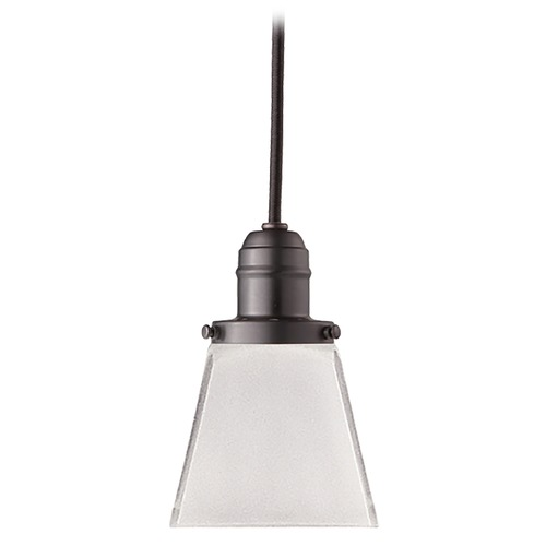 Hudson Valley Lighting Mini-Pendant Light with White Glass 3101-OB-436