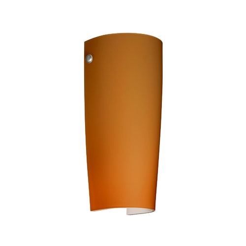 Besa Lighting Sconce Wall Light with Amber Glass in Satin Nickel Finish 704180-SN