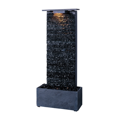 Kenroy Home Lighting Indoor Fountain in Natural Grey Slate Finish 50282GYSL