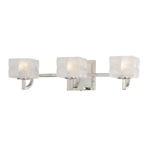 George Kovacs Lighting Three-Light Bathroom Vanity Light with Pillow Glass Shades P5453-613