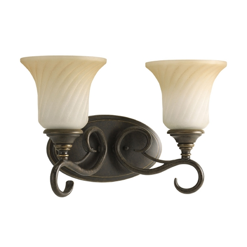 Progress Lighting Progress Bathroom Light in Forged Bronze Finish P2784-77