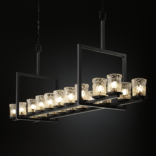 Justice Design Group Justice Design Group Veneto Luce Collection Island Light GLA-8717-16-CLRT-MBLK