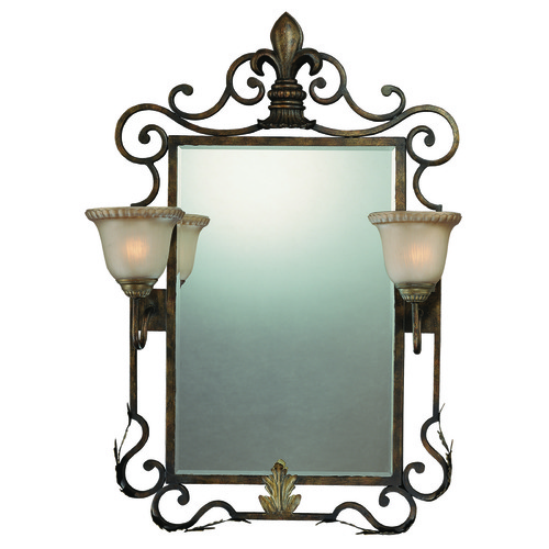 Jeremiah Lighting Devereaux Rectangle 26-Inch Mirror 25722-BBZ