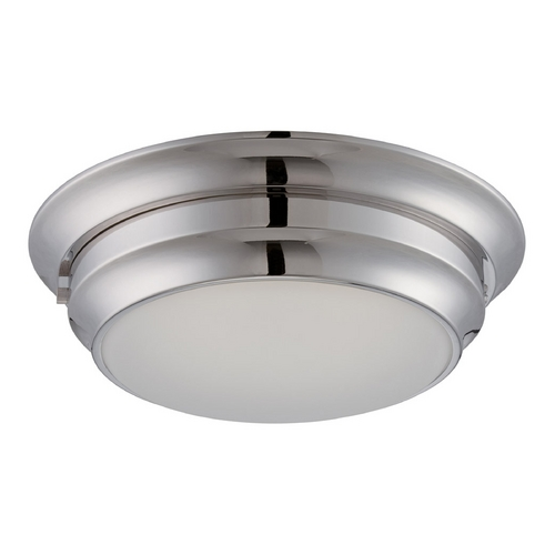 Nuvo Lighting LED Flushmount Light with White Glass in Brushed Nickel Finish 62/154