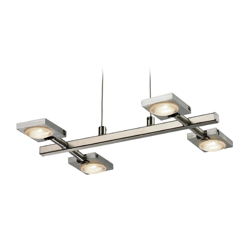 Elk Lighting Modern LED Island Light in Brushed Nickel/brushed Aluminum Finish 54016/4