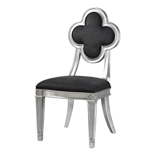 Sterling Lighting Petal Back Dining Chair In Grey 136-010