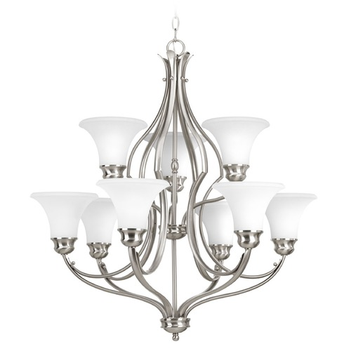 Progress Lighting Progress Lighting Applause Brushed Nickel Chandelier P4037-09