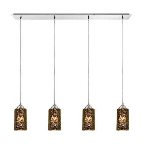 Elk Lighting Elk Lighting Illusions Polished Chrome Multi-Light Pendant with Cylindrical Shade 10505/4LP