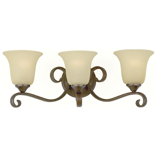 Feiss Lighting Bathroom Light with Beige / Cream Glass in Corinthian Bronze Finish VS10403-CB