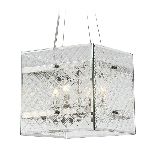 Savoy House Savoy House Lighting Addison Polished Nickel Pendant Light with Square Shade 7-6041-4-109