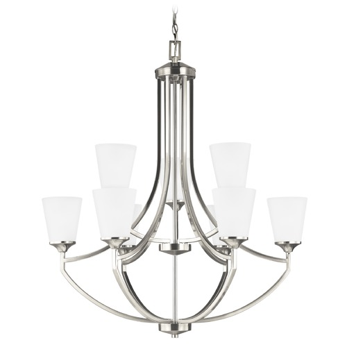 Sea Gull Lighting Sea Gull Lighting Hanford Brushed Nickel LED Chandelier 3124509EN3-962