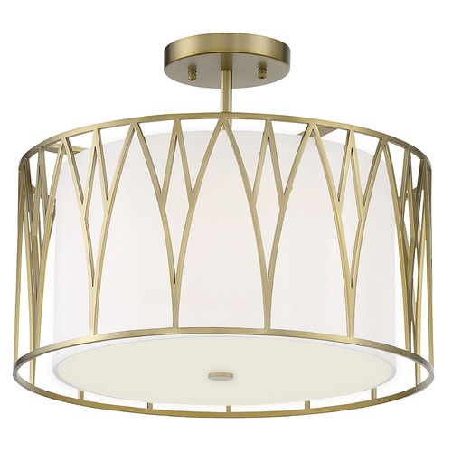 Minka Lavery Minka Lavery Regal Terrace Soft Brass LED Semi-Flushmount Light 1089-695-L