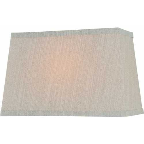 Lite Source Lighting Beige Rectangle Lamp Shade with Spider Assembly CH1188-14