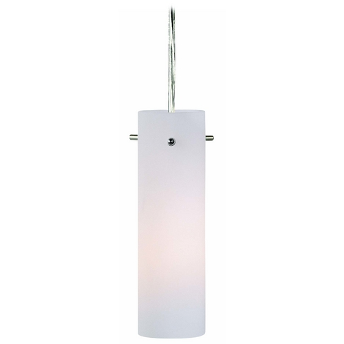 Lite Source Lighting Modern Mini-Pendant Light with White Glass LS-19112PS/FRO