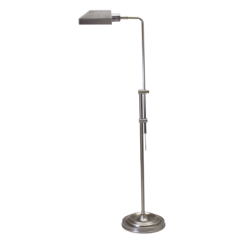 House of Troy Lighting Pharmacy Lamp with White Shade in Antique Silver Finish CH825-AS