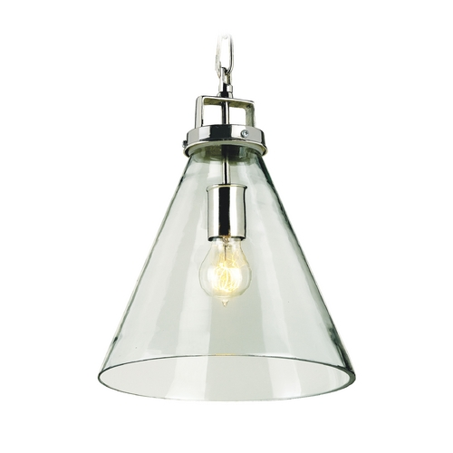 Currey and Company Lighting Pendant Light with Clear Glass in Clear Glass/nickel Finish 9699