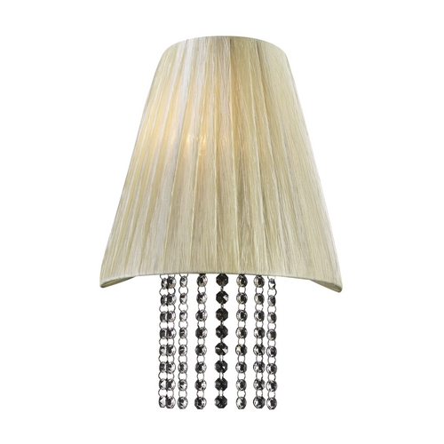 PLC Lighting Modern Sconce Wall Light with Beige / Cream Shade in Beige Finish 73028 BEIGE