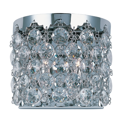 ET2 Lighting Modern Sconce Wall Light with Clear Glass in Polished Chrome Finish E21157-20PC