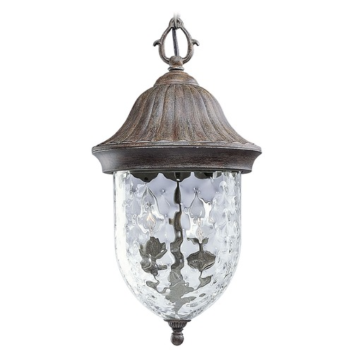 Progress Lighting Progress Outdoor Hanging Light with Clear Glass in Fieldstone Finish P5529-87