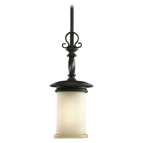 Progress Lighting Progress Mini-Pendant Light with Beige / Cream Glass P5076-80