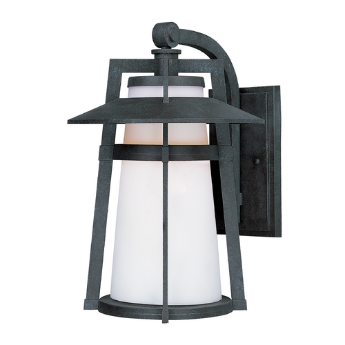 Maxim Lighting LED Outdoor Wall Light with White Glass in Adobe Finish 88534SWAE