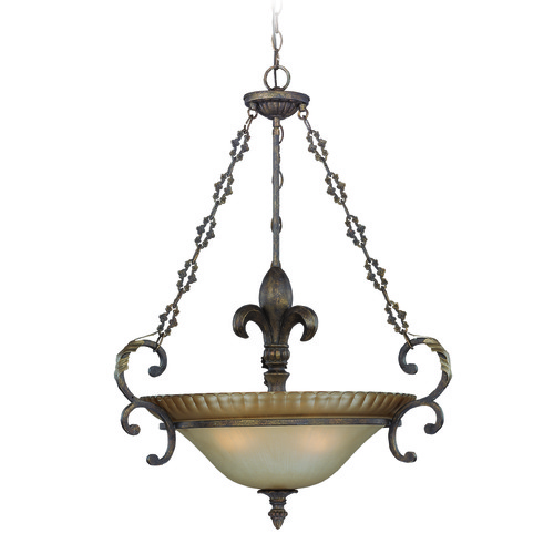 Craftmade Lighting Craftmade Devereaux Burleson Bronze Pendant Light with Bowl / Dome Shade 25723-BBZ