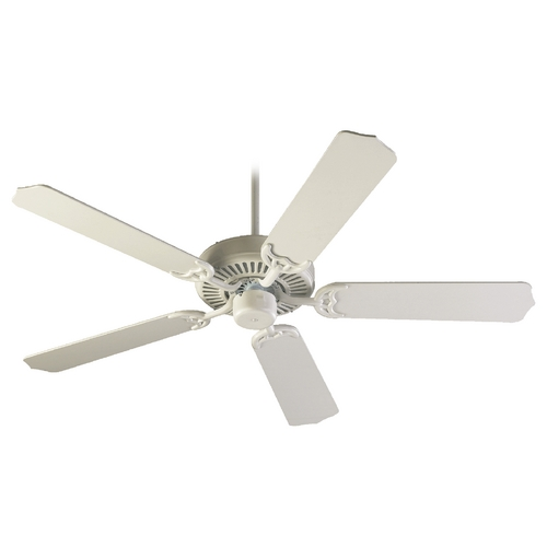 Quorum Lighting Quorum Lighting Capri I Studio White Ceiling Fan Without Light 77525-8
