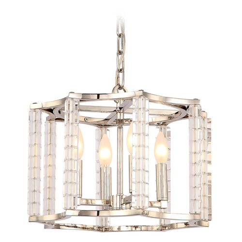 Crystorama Lighting Crystorama Lighting Carson Polished Nickel Pendant Light 8854-PN