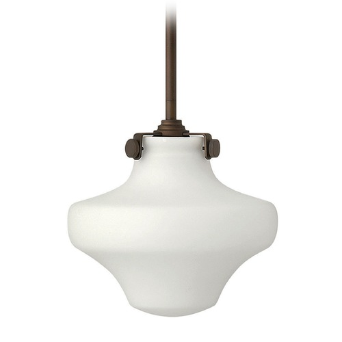 Hinkley Lighting Hinkley Lighting Congress Oil Rubbed Bronze Mini-Pendant Light with Urn Shade 3134OZ-GU24