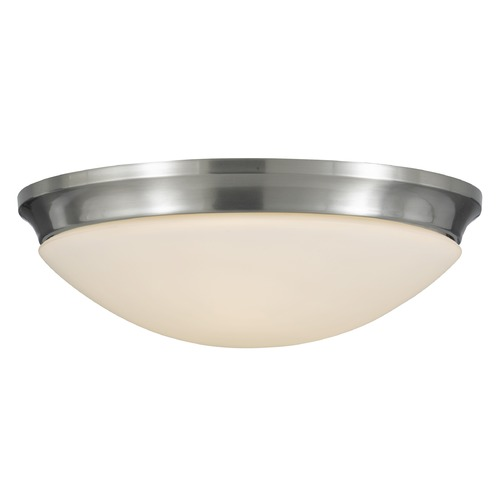 Feiss Lighting Feiss Lighting Barrington Brushed Steel LED Flushmount Light FM273BS-LED