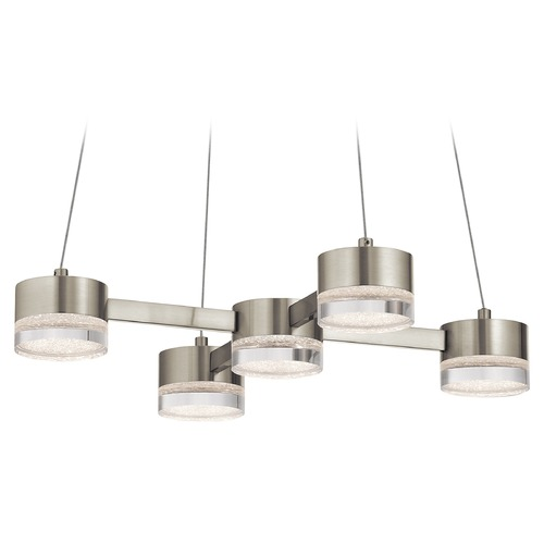 Elan Lighting Elan Lighting Avenza Brushed Nickel LED Pendant Light 83706