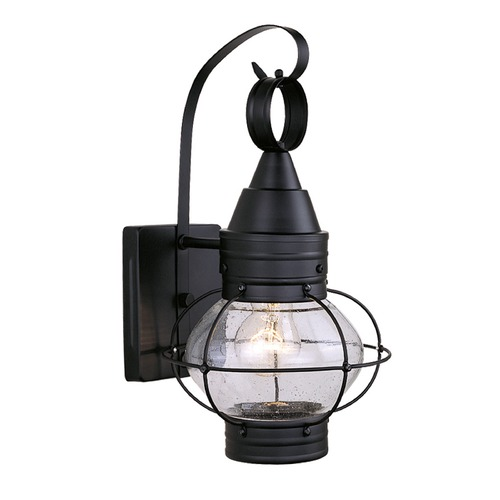 Vaxcel Lighting Seeded Glass Outdoor Wall Light Black Vaxcel Lighting OW21881TB
