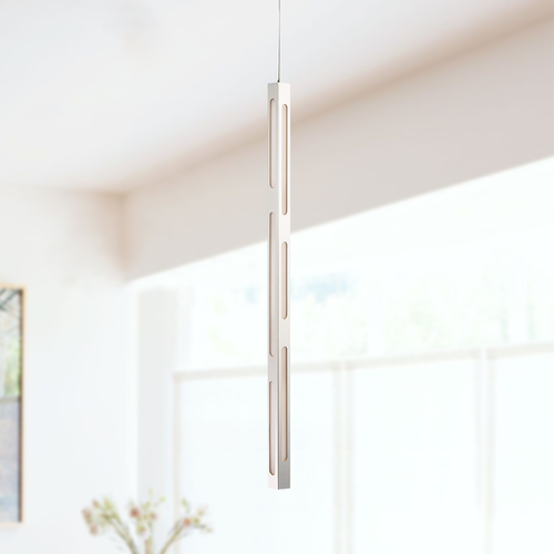 Modern Forms by WAC Lighting Modern Forms Flute Polished Nickel LED Pendant Light 3000K 1060LM PD-44930-PN