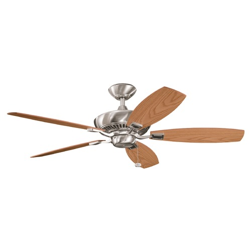 Kichler Lighting Kichler Ceiling Fan Without Light in Brushed Stainless Steel Finish 300117BSS