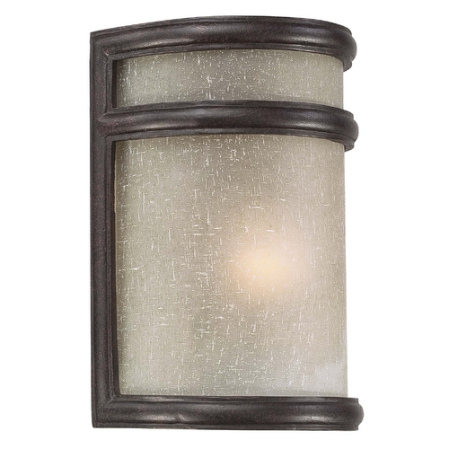 Minka Lighting Outdoor Wall Light with White Glass in Corona Bronze Finish 9811-166