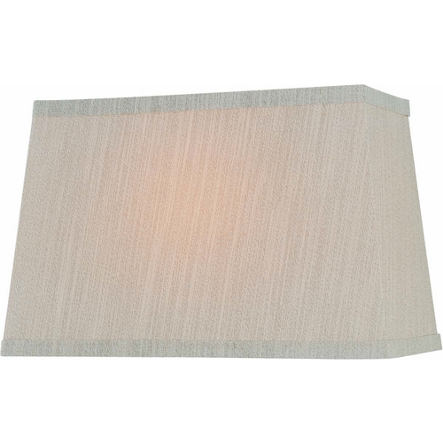 Beige Rectangle Lamp Shade With Spider Assembly Ch1188