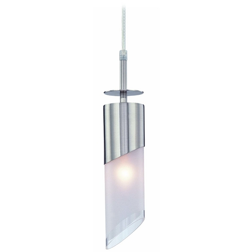 Lite Source Lighting Modern Mini-Pendant Light with White Glass LS-19231PS/FRO