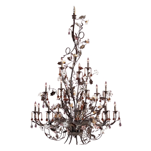 Elk Lighting Crystal Chandelier in Deep Rust Finish 85004